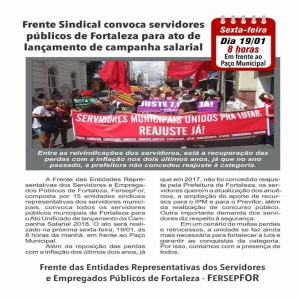 Ato Unificado da Frente Sindical.