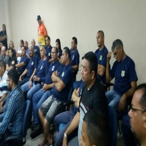 Sindiguardas e categoria presentes na Câmara Municipal de Maranguape.